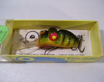 Vintage Rabble Rouser Roo-Tur Fishing Lure with Original Box, Unfished, Nice Lure