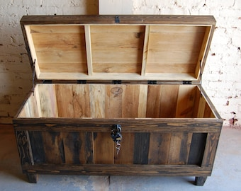 Hope Chest/ Trunk/ Bench/ Entryway/ Wedding/ Housewarming Gift/ Reclaimed Wood