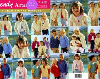 baby knitting pattern     age 1 yr to 12 yrs aran knitting book 8 designs instand download