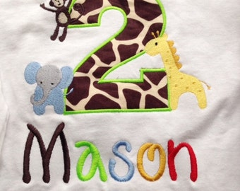 Zoo Birthday Shirt