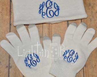 Monogrammed Earwarmer or Texting Gloves