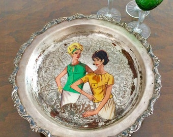 Upcycled vintage tray