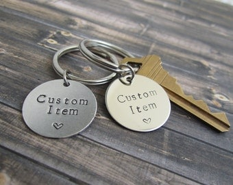 Engraved Keychain, Personalized Keychain, Hand stamped Keychain, Quote Keychain, Customized Keychain, Stainless Steel Keychain