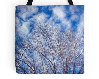 Clouds Tote Bag, Clouds Print, Clouds Bag, Clouds Photo, Clouds Purse, Clouds Photo Bag, Clouds Picture, Sky Tote, Blue Sky Tote, Cloud Bag