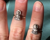Sterling Silver Buddha stacker rings