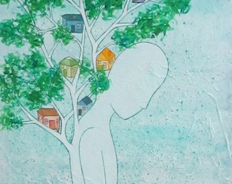 Treehouse - Original painting