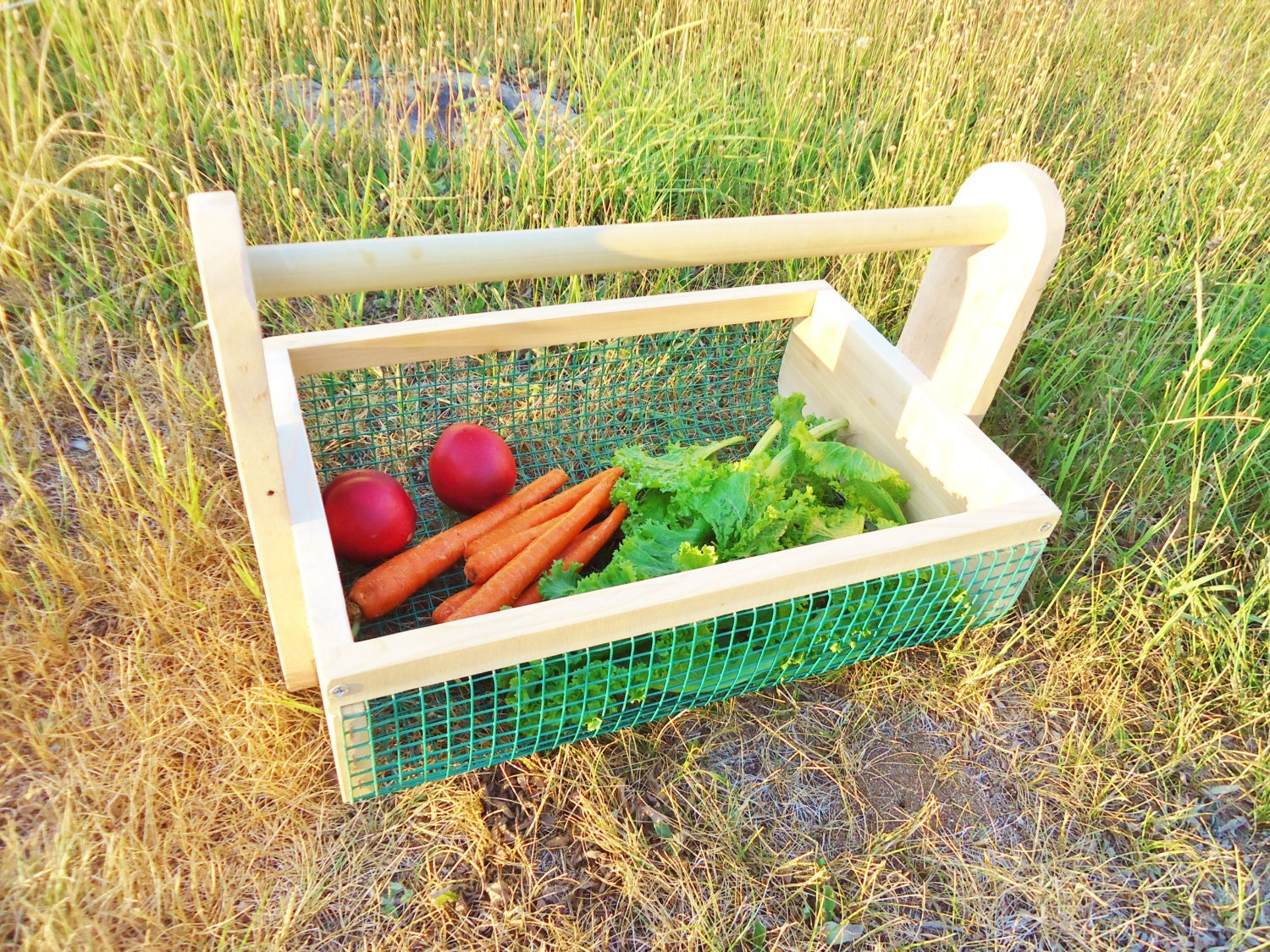Vegetable Hod Garden Tote Harvest Basket By Conversationglass