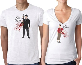 Bonnie and Clyde Shirt, Couples Shirts, His and Hers Shirt