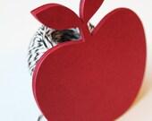 Apple Die Cut, LARGE, Red Apple, Rustic Wedding, Wedding Favor Tags, Wedding Favors, Gift Tags