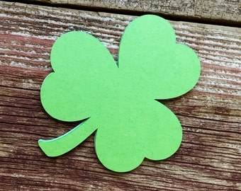 LARGE Clover Cutouts, Clover Die Cuts, St. Patricks Day, Shamrock Die Cuts, Clover Leaf, Clover Diecuts