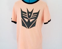 Upcycled Recycled Repurposed Transformers T Shirt Size XL Nerdy Clothing Girl Geek Clothing Geeky Clothing Geeky Shirt Tokyo Street Fashion