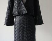 Vintage 1990s Unusual Black Plastic Sexy Jacket And Suit