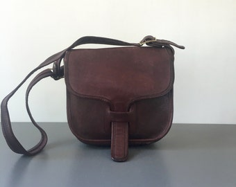vintage 70s leather Coach purse Bonnie Cashin  burgundy made in NYC 9913