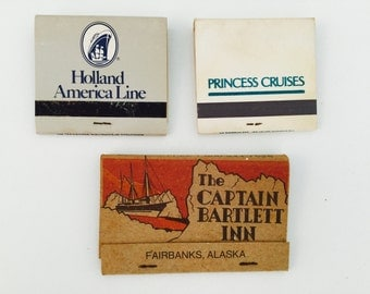 3 Vintage Cruise & Inn Used Matchbooks