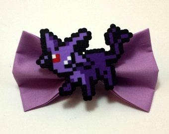 Espeon Hair Bow - Pokemon Hair Bow - 8 Bit Hair Bow - Espeon Bow
