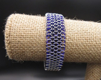 Purple and Silver Dragonscale Bracelet