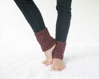 Merino Wool Ankle Warmers | Crochet Boot Cuffs | Knit Boot Toppers | Wool Boot Cuffs