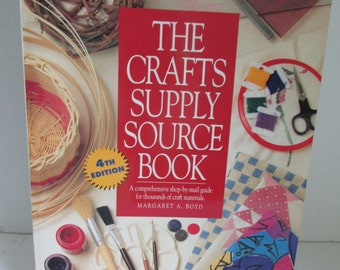 The Craft Supply Source Book How to wholesale Craft Products Craft Supplies Source Wholesale Crafts Where to Wholesale Vendors