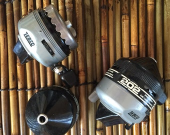 Vintage Zebco 202 Reels - Lot of 2 - late 1960s or early 1970s
