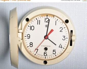 SALE - Soviet clock - Working - Ship Clock ,Vintage Clock, NAVY Clock, Mechanical clock