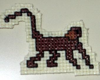 Monkey cross stitch magnet