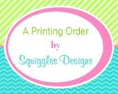 Printing Order for kayhaus (30)(4x6 Olaf Birthday Invitations)