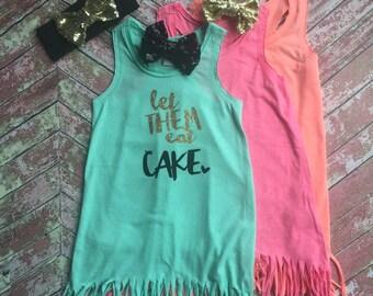 Girls Beach Cover Up, Girls Summer Dress, Girls Fringe Dress, Beach Wedding Dress, Girls Birthday Dress, Girls Birthday Shirt, Flower Girl