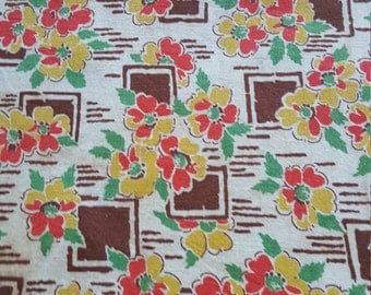 Vintage FULL Feed Sack Feedsack Fabric Material