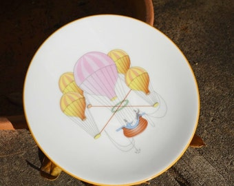 Emile De Limoges Decorative plate Hot Air Balloon