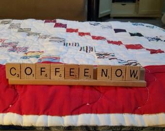 Scrabblie table or desk message