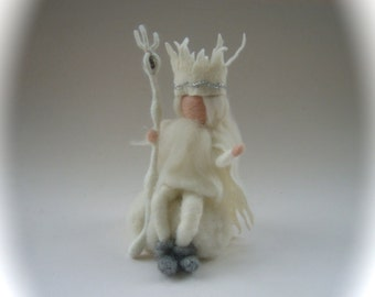 King Winter.Waldorf. Hand-felted. Needle felted.Waldorf
