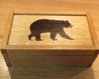 American Black Bear Marquetry Box