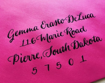 GEMMA : Custom Wedding Calligraphy Envelope Addressing