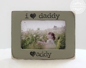 Gift for Dad Gift Personalized Picture Frame from Kids Children For Husband I Love Daddy
