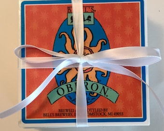 Set of 4 Coasters - Bells Brewery - Homemade