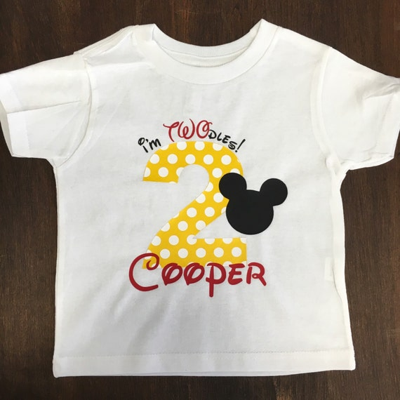 Twoodles Mickey Minnie 2nd Birthday Shirt