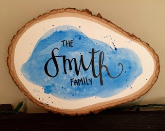 Family Name Wooden Slab