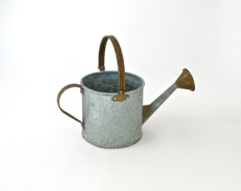 Vintage Tin Watering Can Old Farm Water Tin