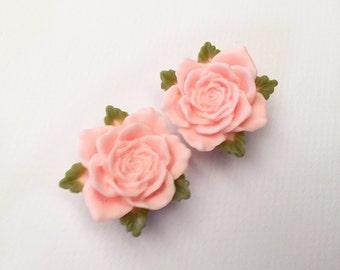 Baby Pink Vintage Rose Ear Plugs