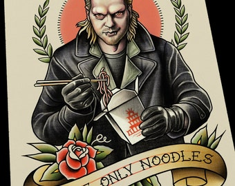 David Lost Boys Tattoo Flash Art Print