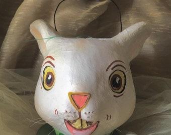 White Rabbit Paper Mache'