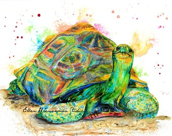 Tortoise art: nursery animal art turtle art tortoise decor turtle art print turtle wall art tortoise gift idea tortoise wall decor turtle