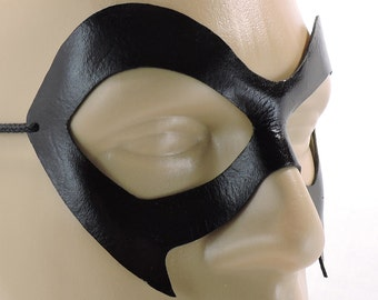 Ms. Marvel Mask - Black Leather Superhero Mask Adult Womens