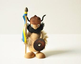 Mid Century Swedish Teak Viking Figurine - Sweden
