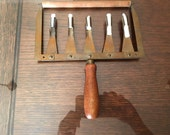Vintage E. E. Babb & Co. Brass and Wooden Music Chalkboard Staff Liner