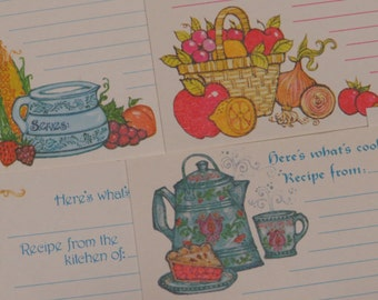 Oh So Adorable ~ Retro ~ Current ~ Recipe Card Collection x12