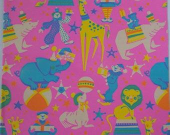 Vintage Gift Wrap Sheet - Circus