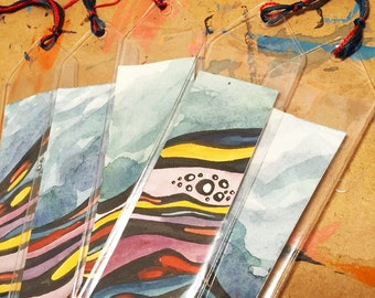Bookmarks: Red, Blue, and Yellow