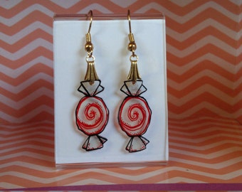 Striped Candy Shrinky Earrings