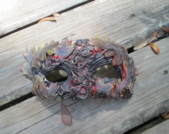 Made to order, Woodland elf, Autumn leaves, forest mask, masquerade mask, costume, Woodland sprite, fairy